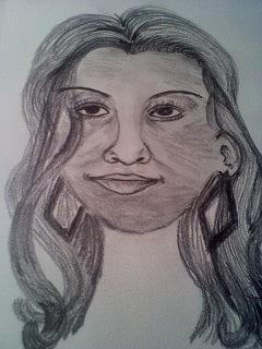 240x320 Pretty Lady Drawing By Barbara Judkins Stevens