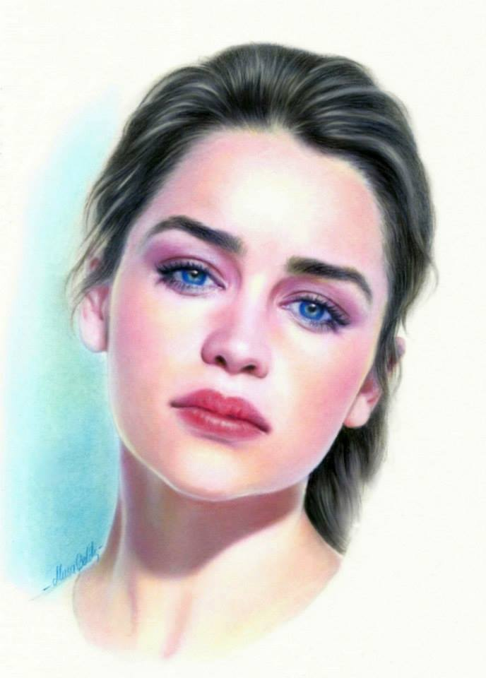 688x960 Pretty Lady Color Pencil Drawings Musa