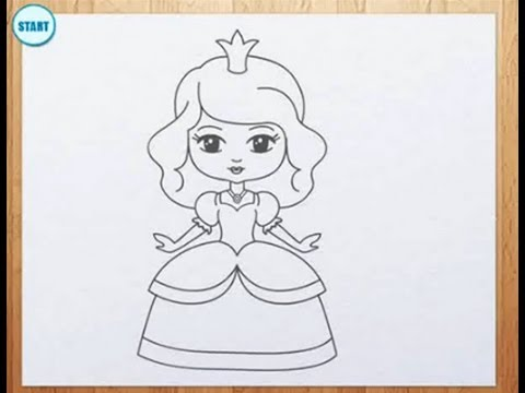 Coloring Pages Of Princess Belle : Pretty princess drawing at getdrawings free for personal use