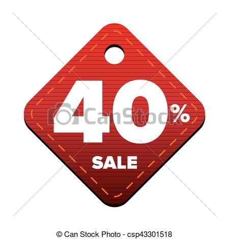 450x470 Sale Fourty Percent Pricetag Red Vector Vector Clip Art