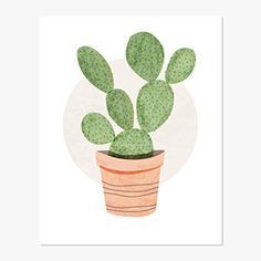 236x236 Prickly Pear Cactus Art Print