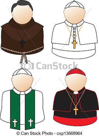 342x470 Catholic Icons. Catholic Priest, Bishop, Cardinal, Pope Clip
