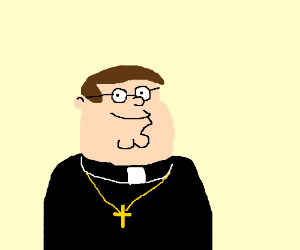 300x250 Peter Griffin Is A Priest.