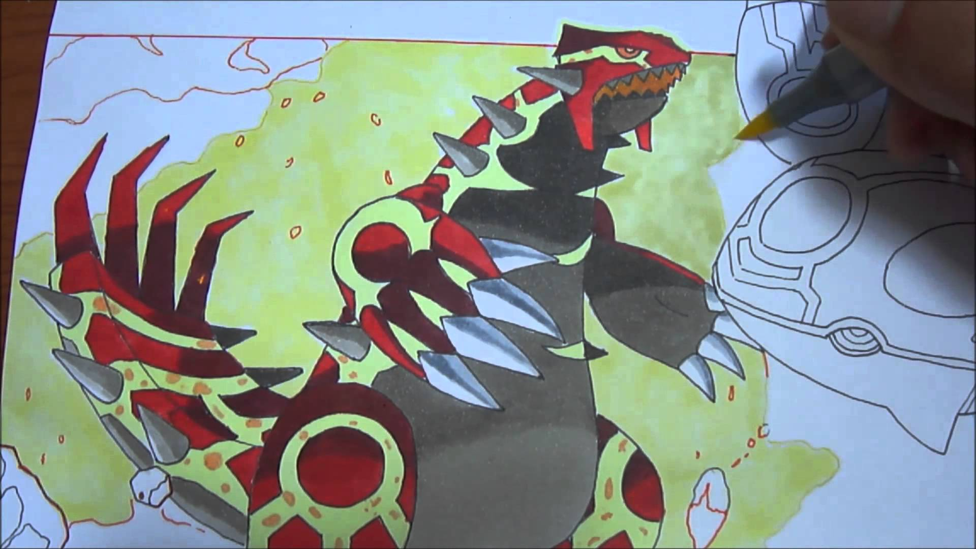 1920x1080 Copic Speed Draw Primal Groudon And Primal Kyogre