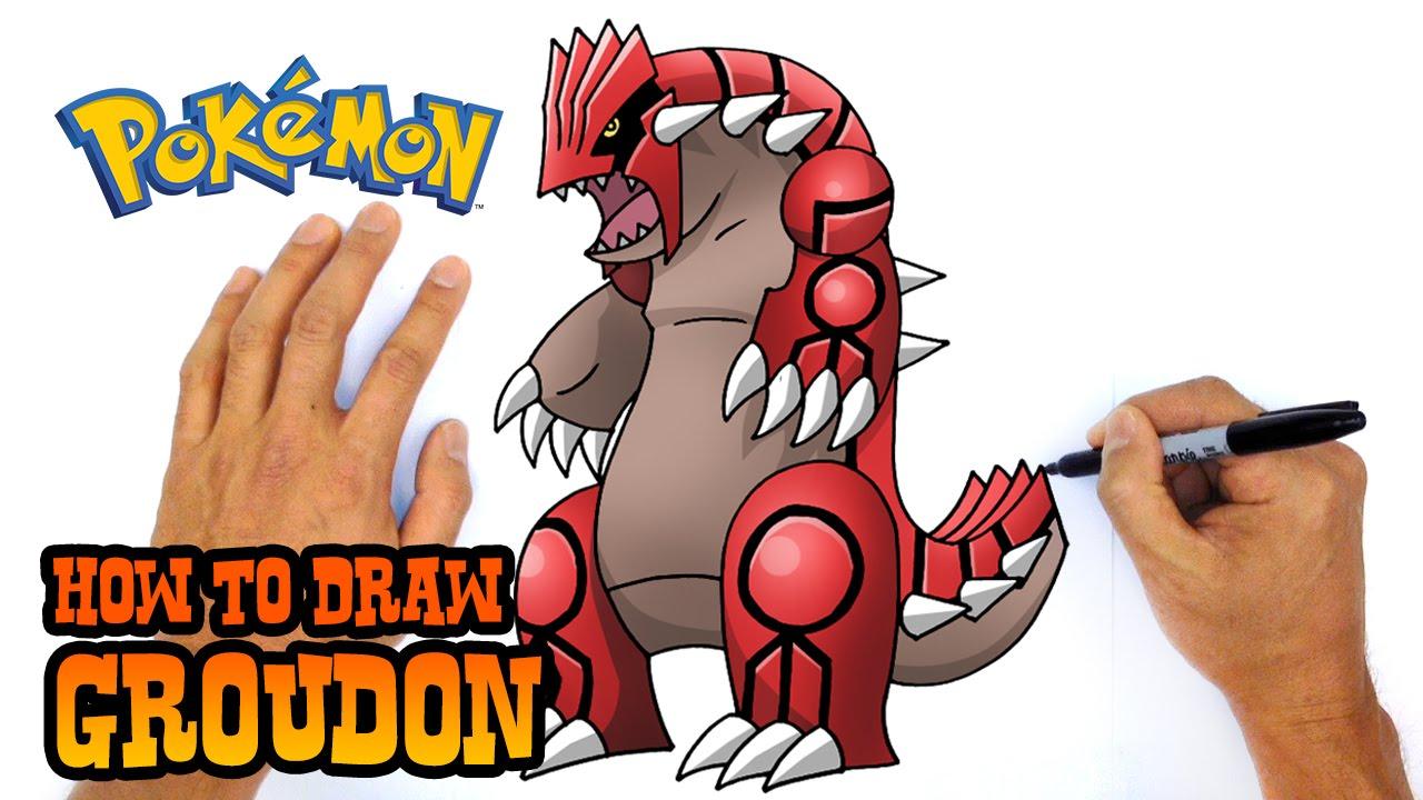 1280x720 How To Draw Groudon Pokemon