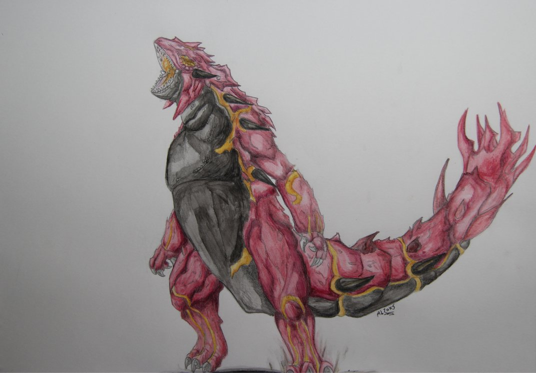 1071x746 Realistic Primal Groudon By Alzoks