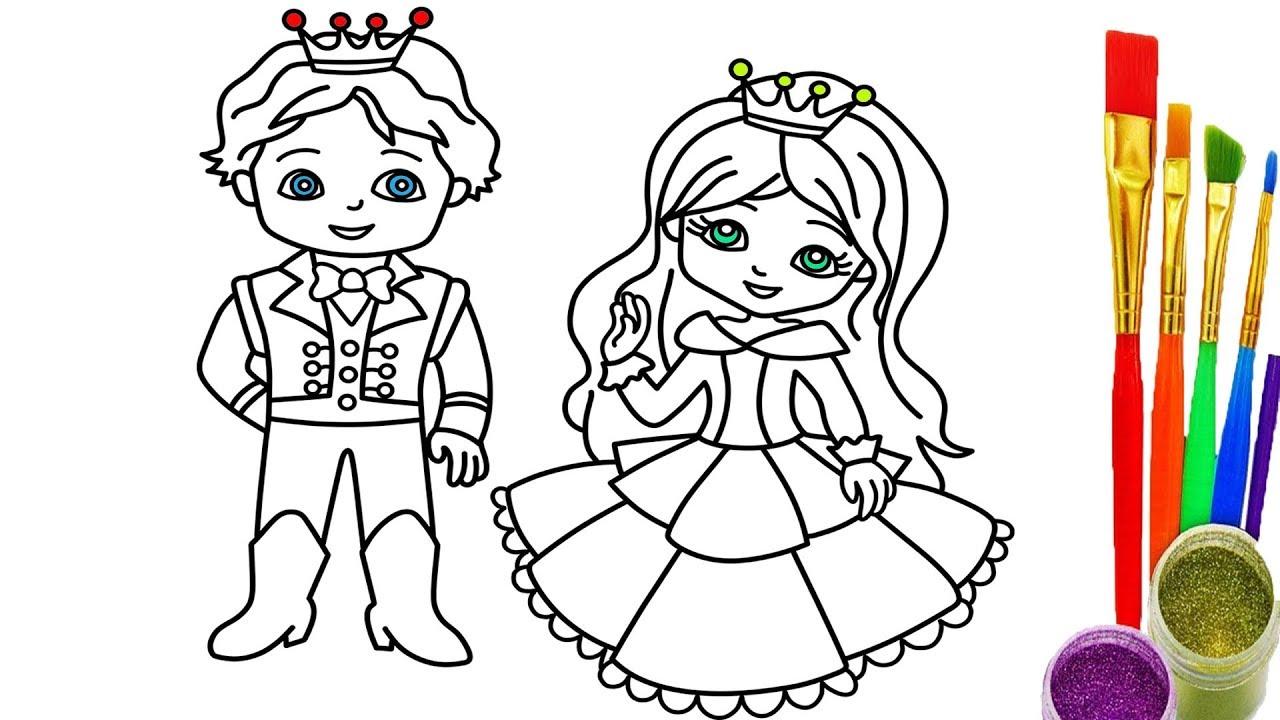 Prince And Princess Drawing At GetDrawings.com