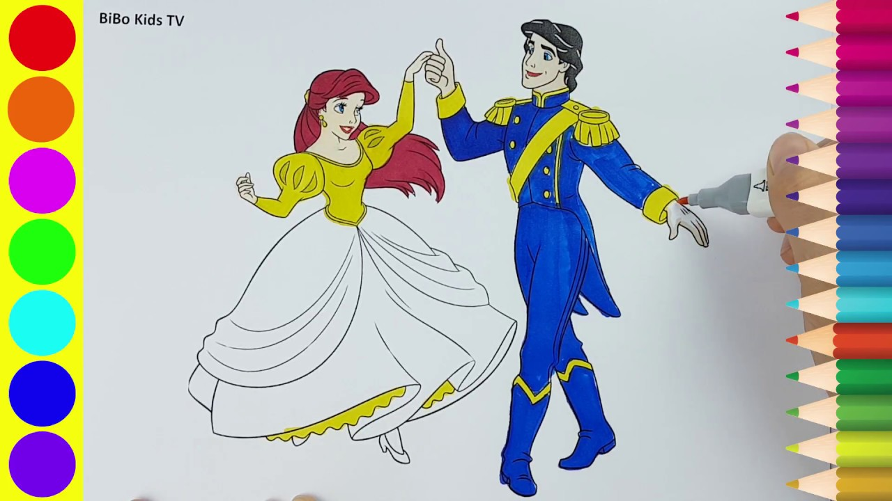 1280x720 Princess And Prince Coloring Pages How To Draw Princess And Prince