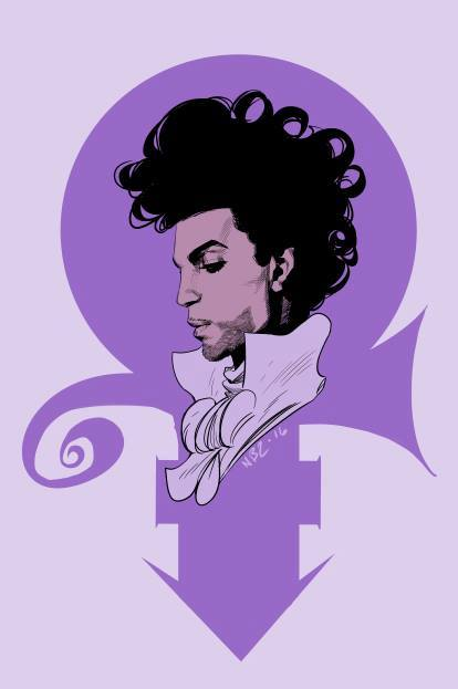 414x623 36 New Drawings Of Prince By Comic Artists And Cartoonists (Update
