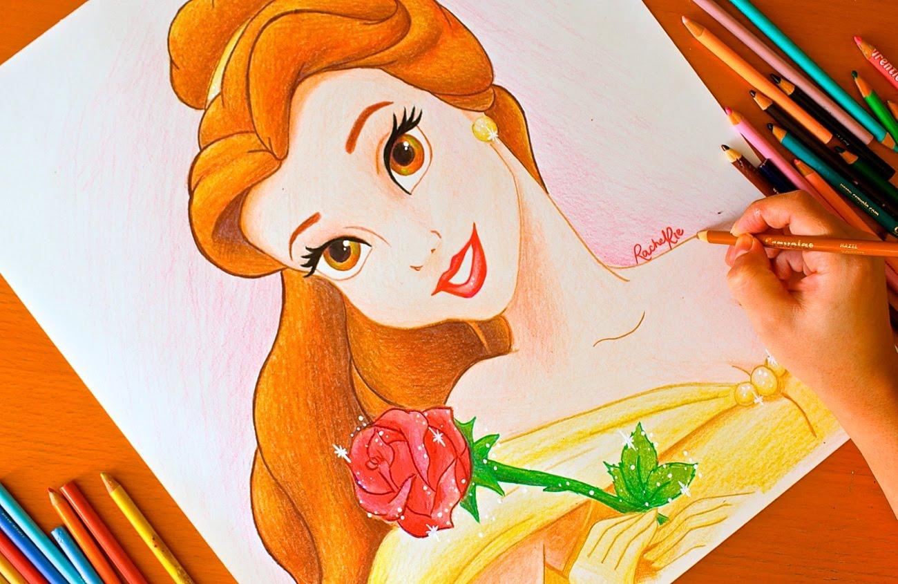1300x845 Drawing Princess Belle Disney Budget Art