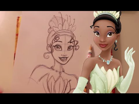 480x360 How To Draw Tiana From Disney's Princess And The Frog