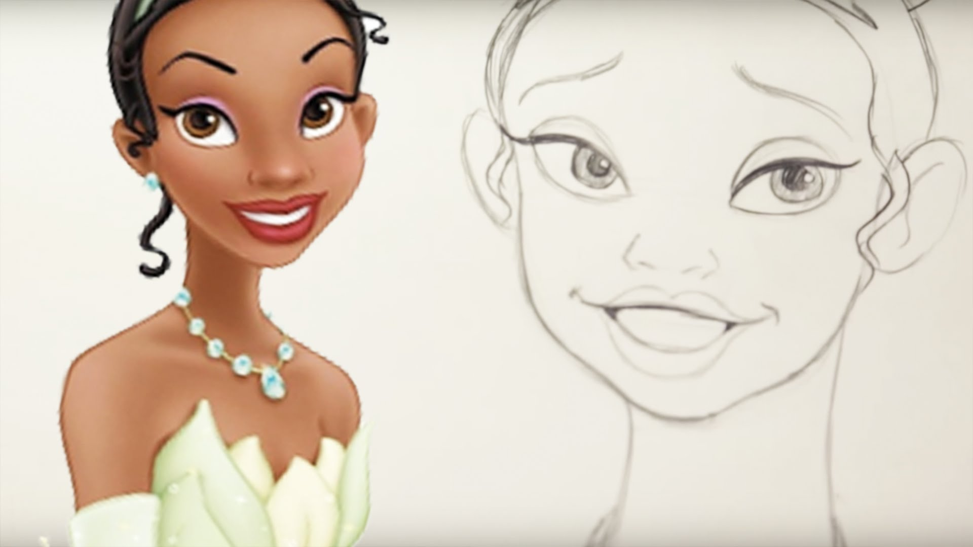 1920x1080 How To Draw Tiana From The Princess And The Frog