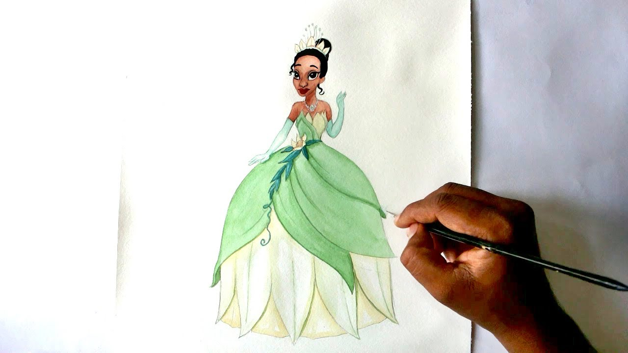1280x720 How To Draw Princess Tiana From The Princess And The Frog Movie