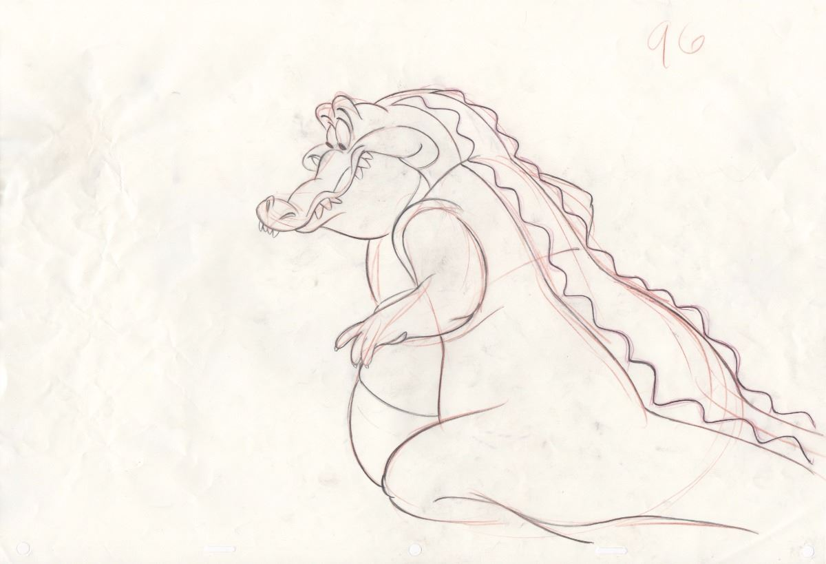1200x819 Rare Production Drawing Of Louis The Alligator From The Princess