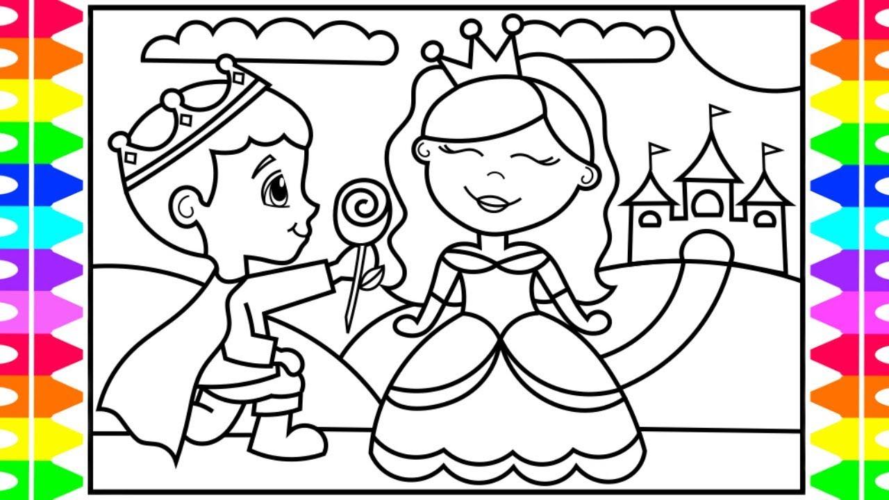1280x720 How To Draw A Princess A Prince For Kids Princess