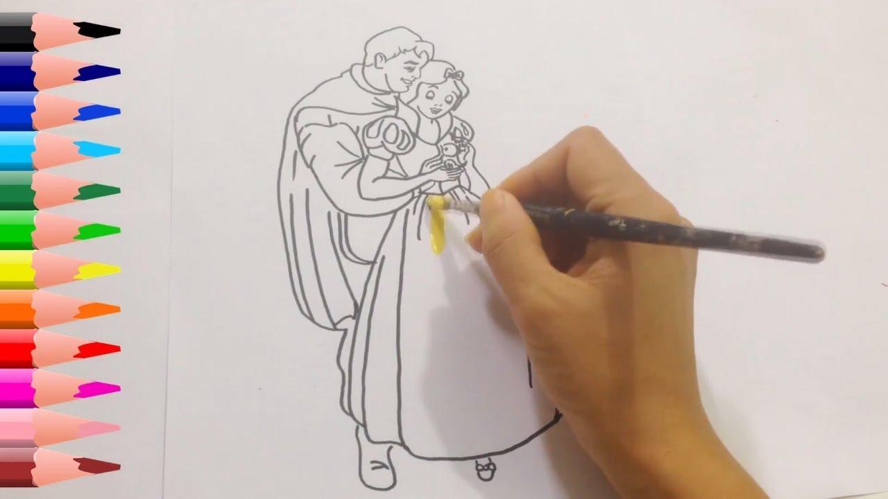 1280x720 How To Draw Prince And Princess Snow White