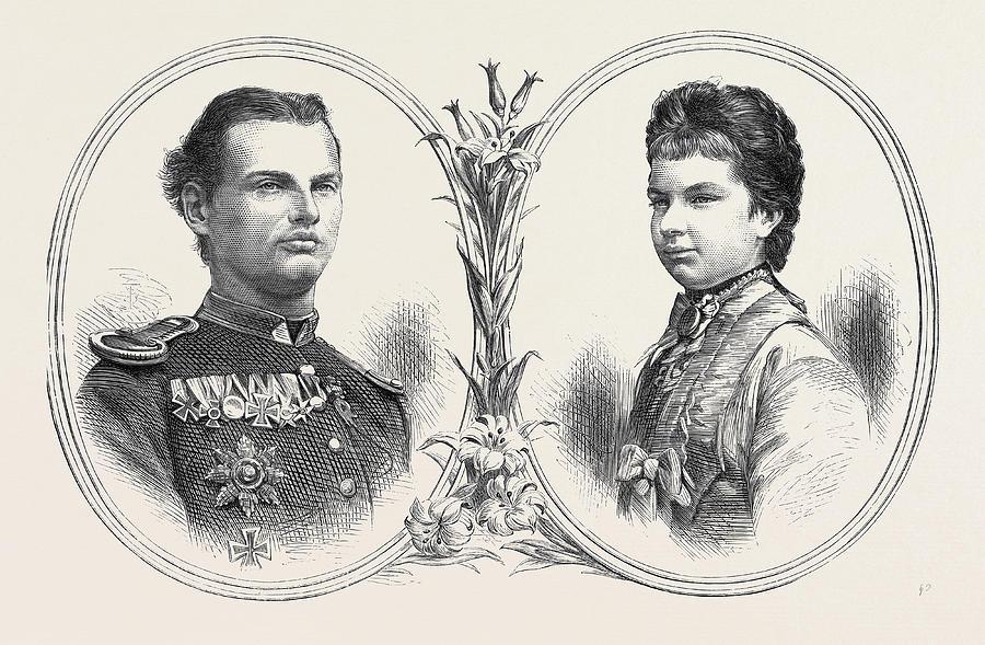 900x589 Prince Leopold Of Bavaria And Princess Gisela Of Austria Drawing