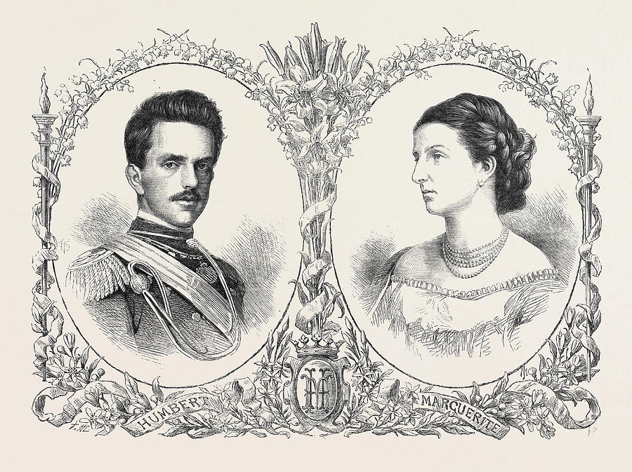900x673 The Crown Prince Humbert Of Italy And Princess Margaret Drawing By