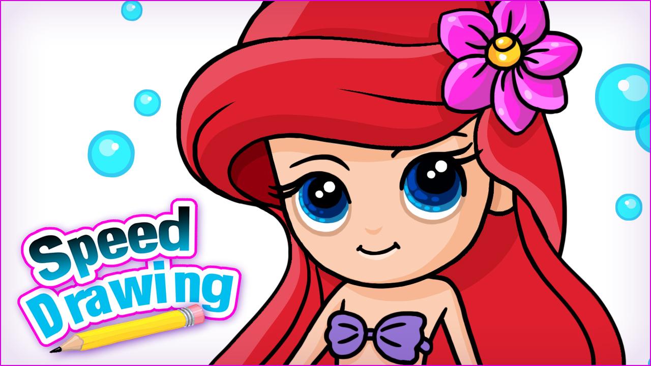 1280x720 How To Draw Ariel The Little Mermaid Disney