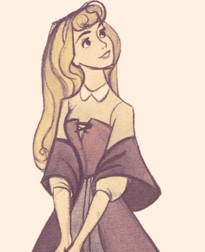 400x491 Briar Rose. Beautiful Art! ) Disneyanimation