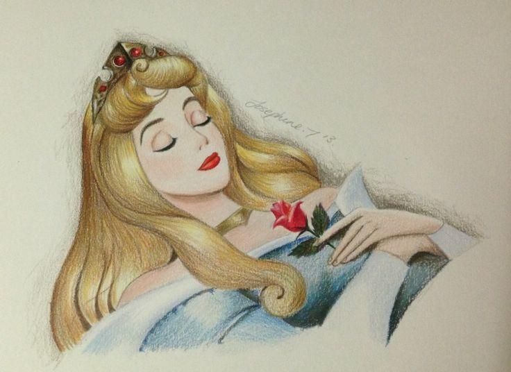 736x536 Realistic Princess Aurora Drawing