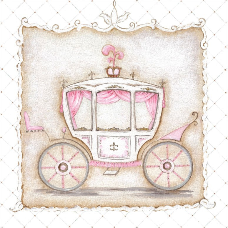 775x775 Little Princess Carriage Iii Canvas Wall Art By Oopsy Daisy