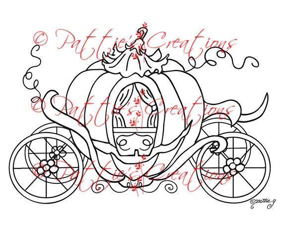 570x465 Princess Pumpkin Coach Digi Stamps