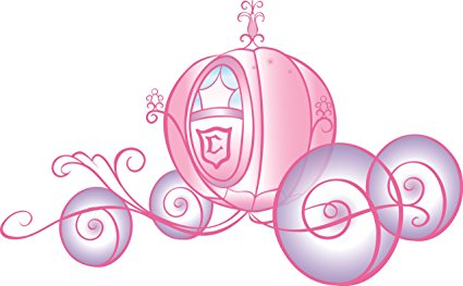 425x263 Roommates Rmk1522slm Disney Princess Carriage Peel And Stick Giant