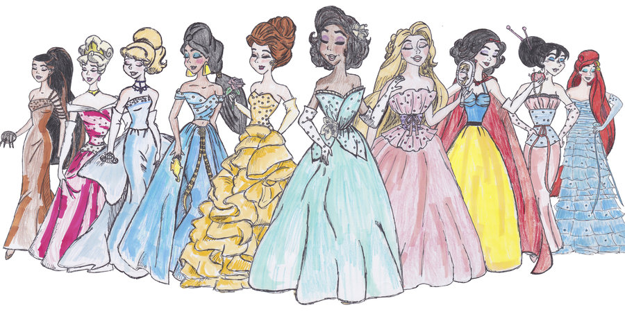 900x450 Designer Disney Princesses By Thegirlonxboxlive