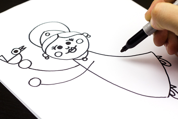 Simple Princess Coloring Pages : Princess drawing for kids at getdrawings.com free for personal use