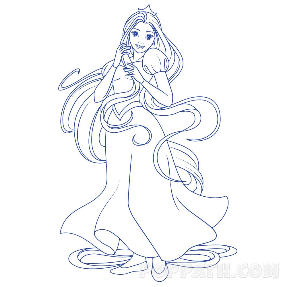 1000x1000 How To Draw A Long Hair Princess Pop Path
