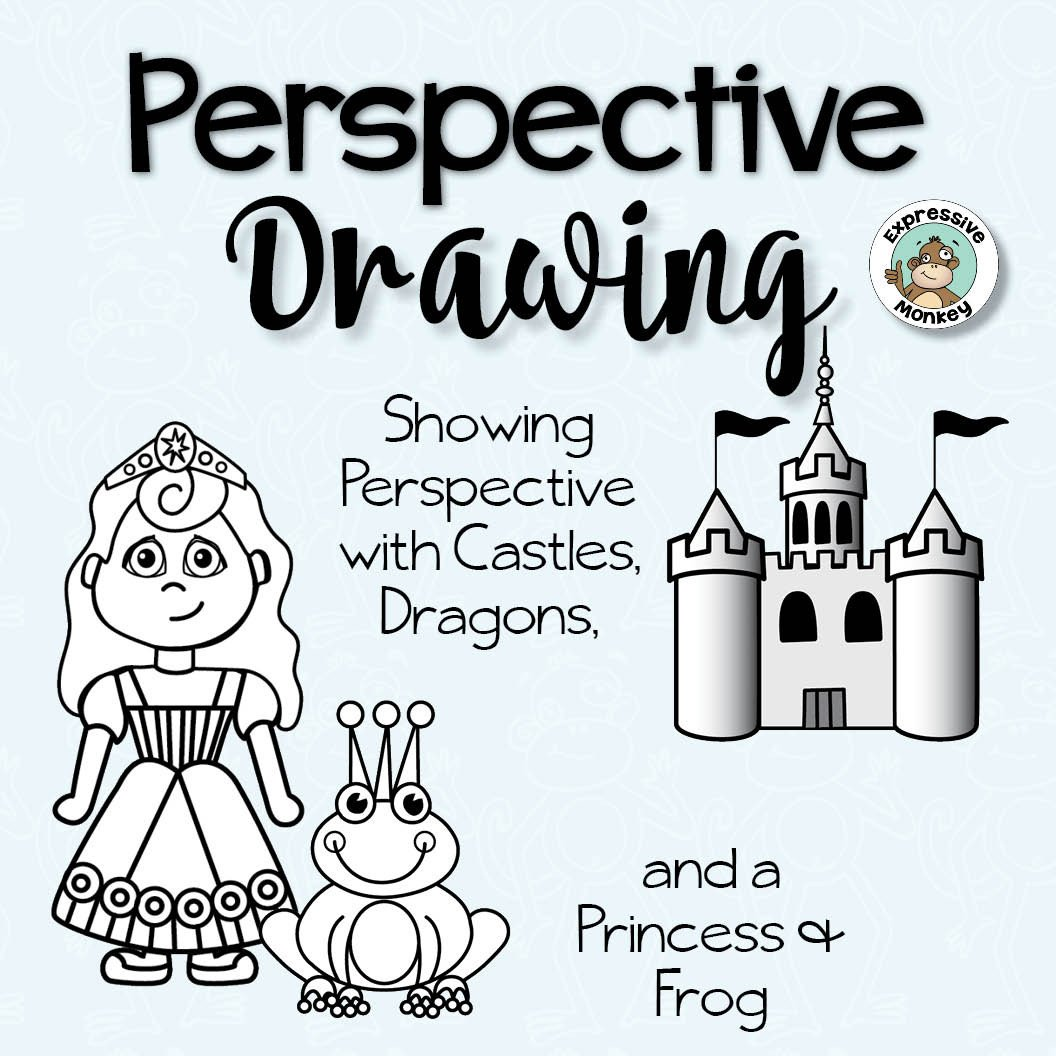 1056x1056 Perspective Drawing Showing Perspective With Castles, Dragons +