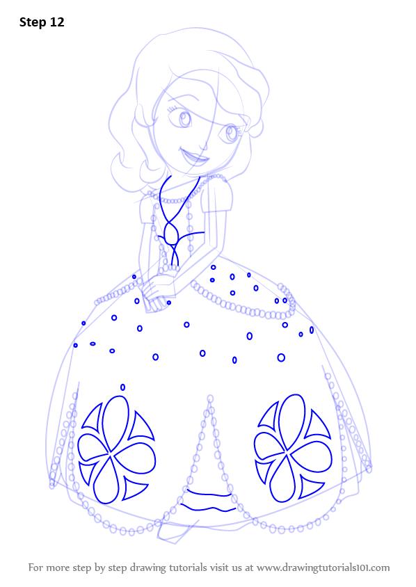 598x844 learn how to draw princess sofia from sofia the first sofia the