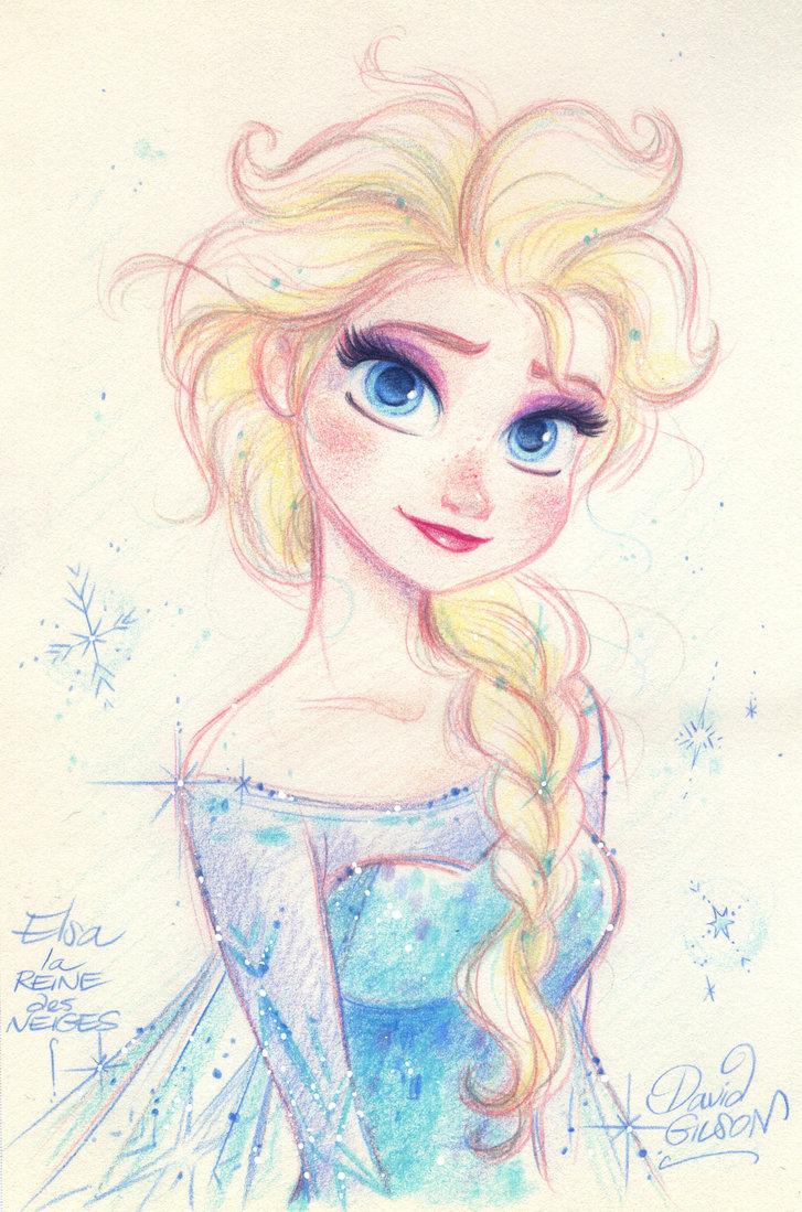 727x1099 Elsa The Snow Queen From Disney's Frozen By Princekido