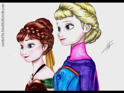 480x360 Speed Drawing Queen Elsa (Frozen) Diana
