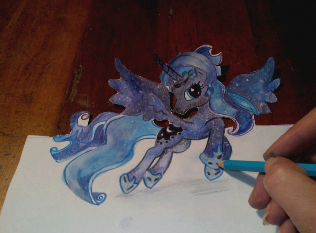 1024x756 Draw My In 3d How To Draw My Little Pony Princess Luna 3d