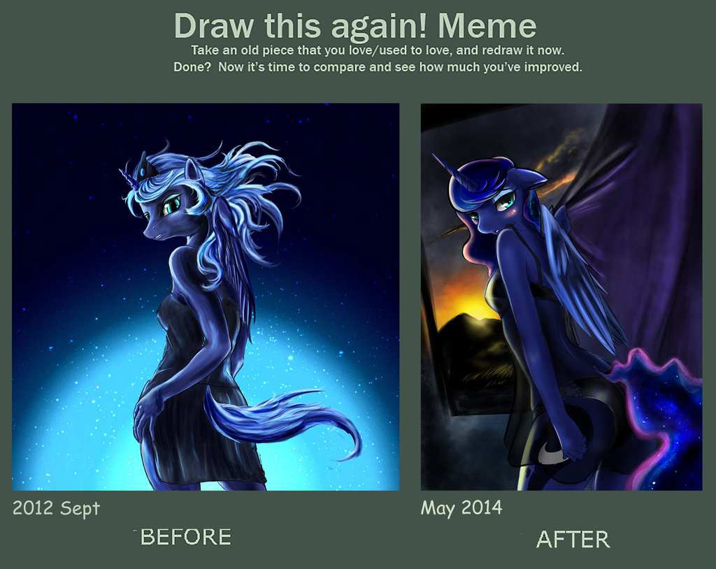 1024x814 Draw This Again Meme Princess Luna By Dlowell
