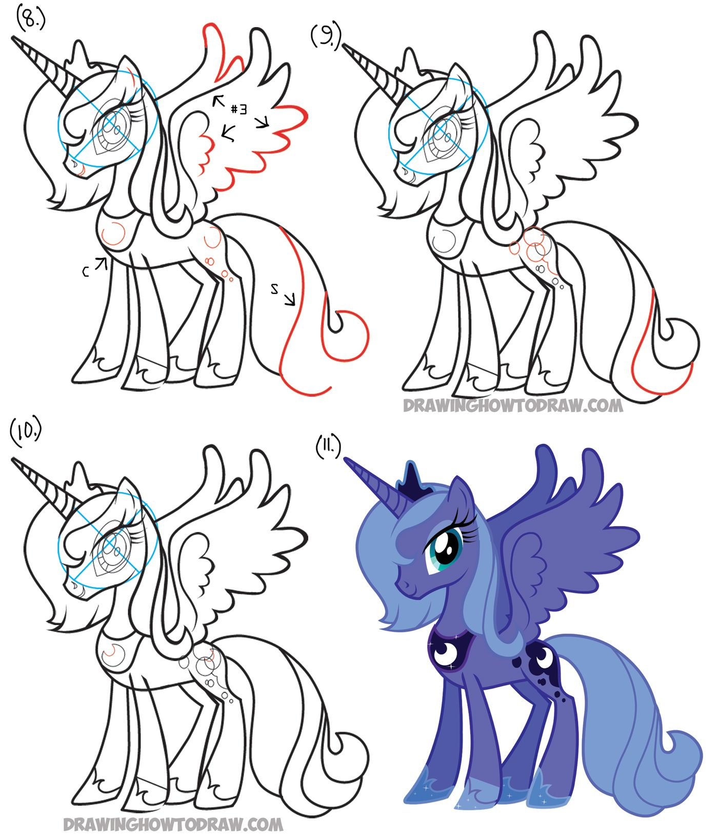 1400x1637 How To Draw Princess Luna From My Little Pony Friendship Is Magic