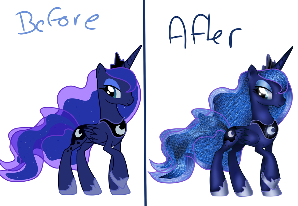 1024x709 My Little Pony Princess Luna (How I Draw Her ^^) By