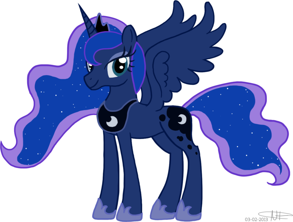 1024x778 Princess Luna Da By Pizzaniall