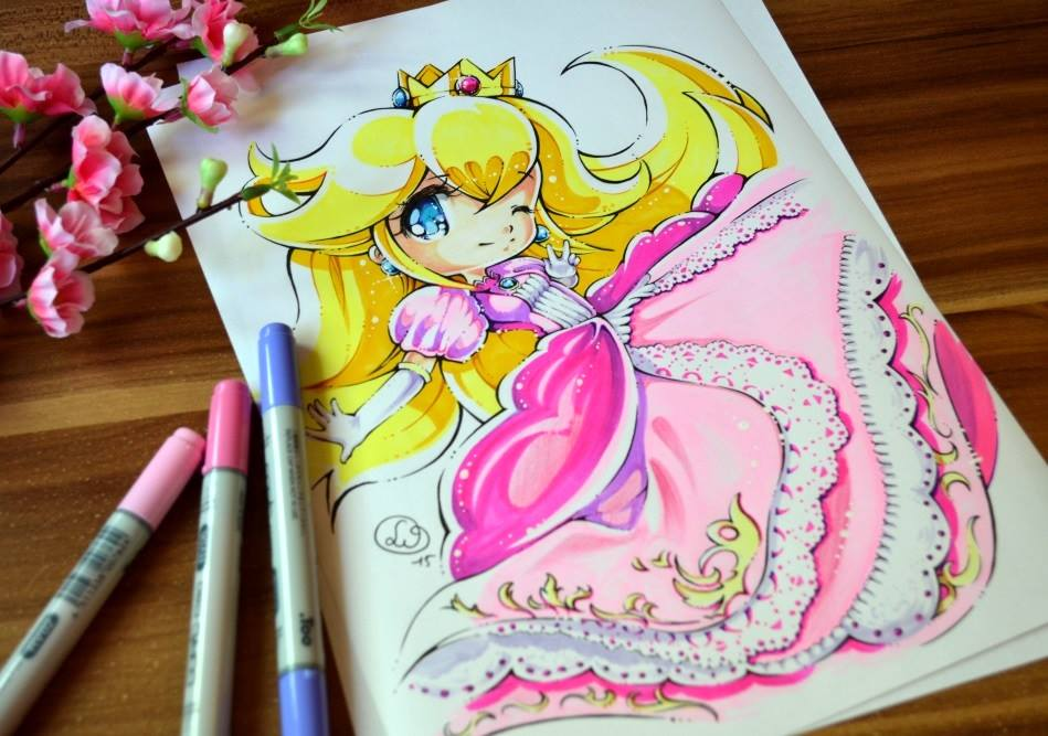 Princess Peach Drawing At Getdrawings Com Free For