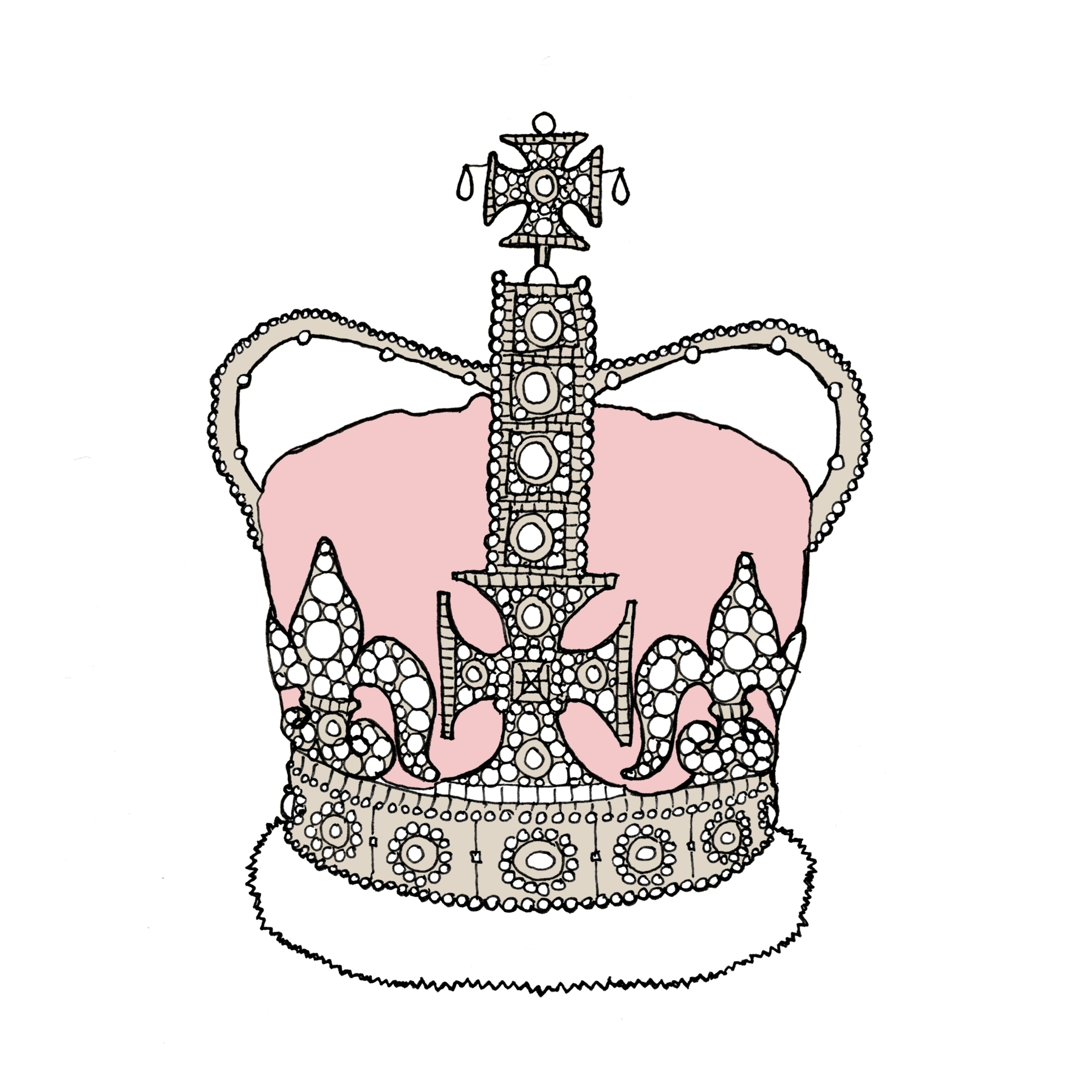 Princess Tiara Drawing at GetDrawings.com | Free for personal use ...