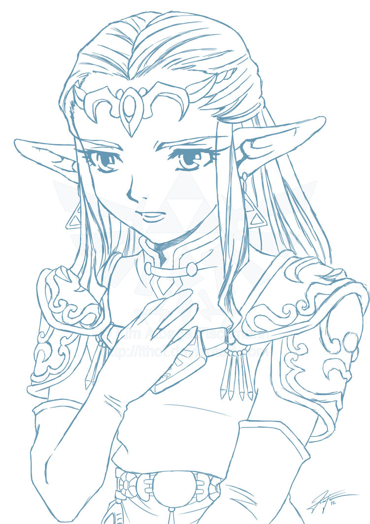 Princess Zelda Drawing At Getdrawings Com Free For Personal Use