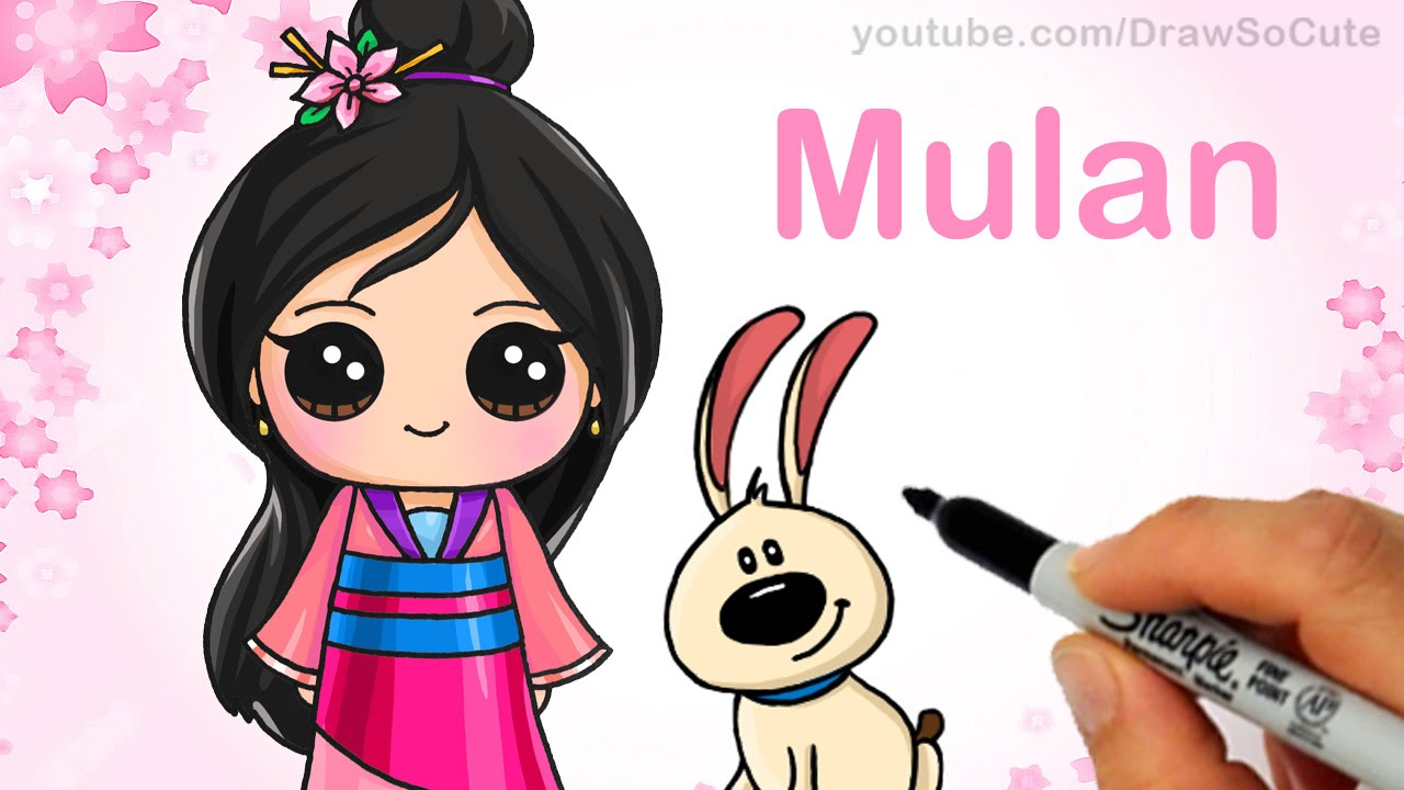 1280x720 How To Draw Chibi Mulan Step By Step Cute Disney Princess