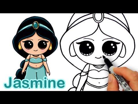 480x360 How To Draw Disney Princess Jasmine From Aladdin Cute