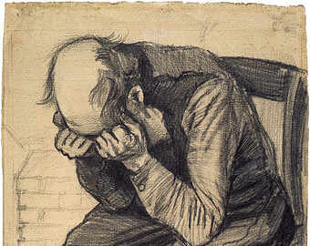 340x270 Fine Art Reproduction. Worn Out, 1882. Drawing By Vincent Van Gogh