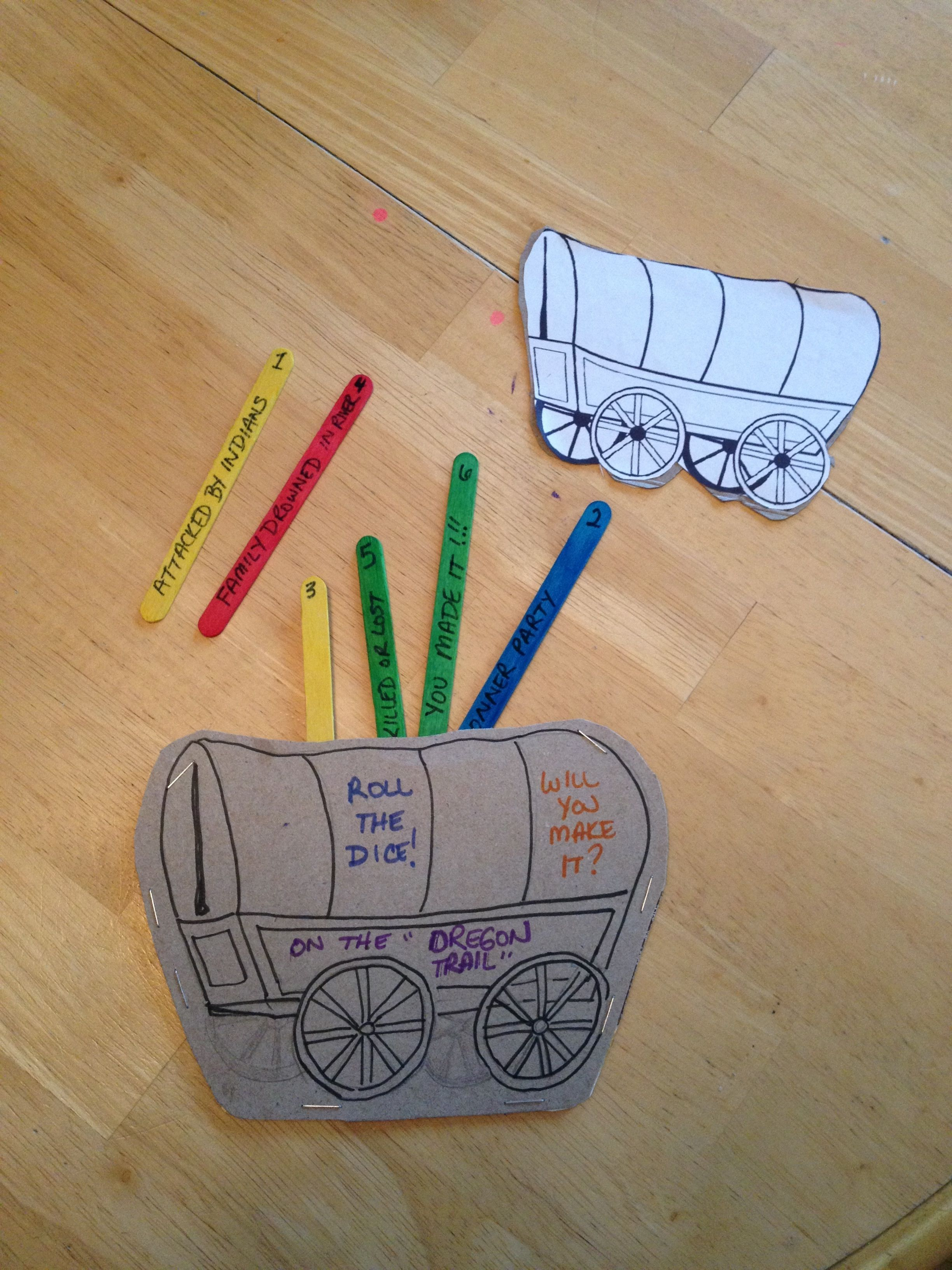 2448x3264 Oregon Trail Activity Draw (Or Print Out) A Prairie Schooner Onto