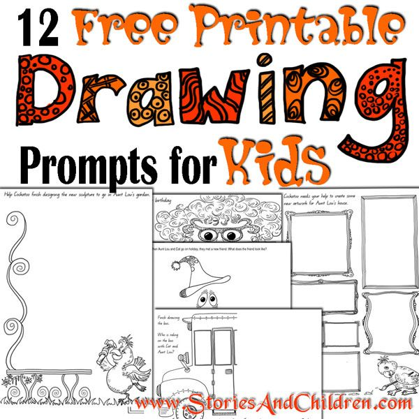 600x600 12 Free Printable Drawing Prompts For Kids Back To School