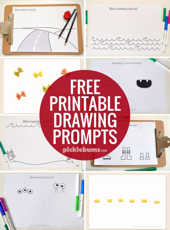 560x760 Drawing Prompts Free Printable, Free And Activities