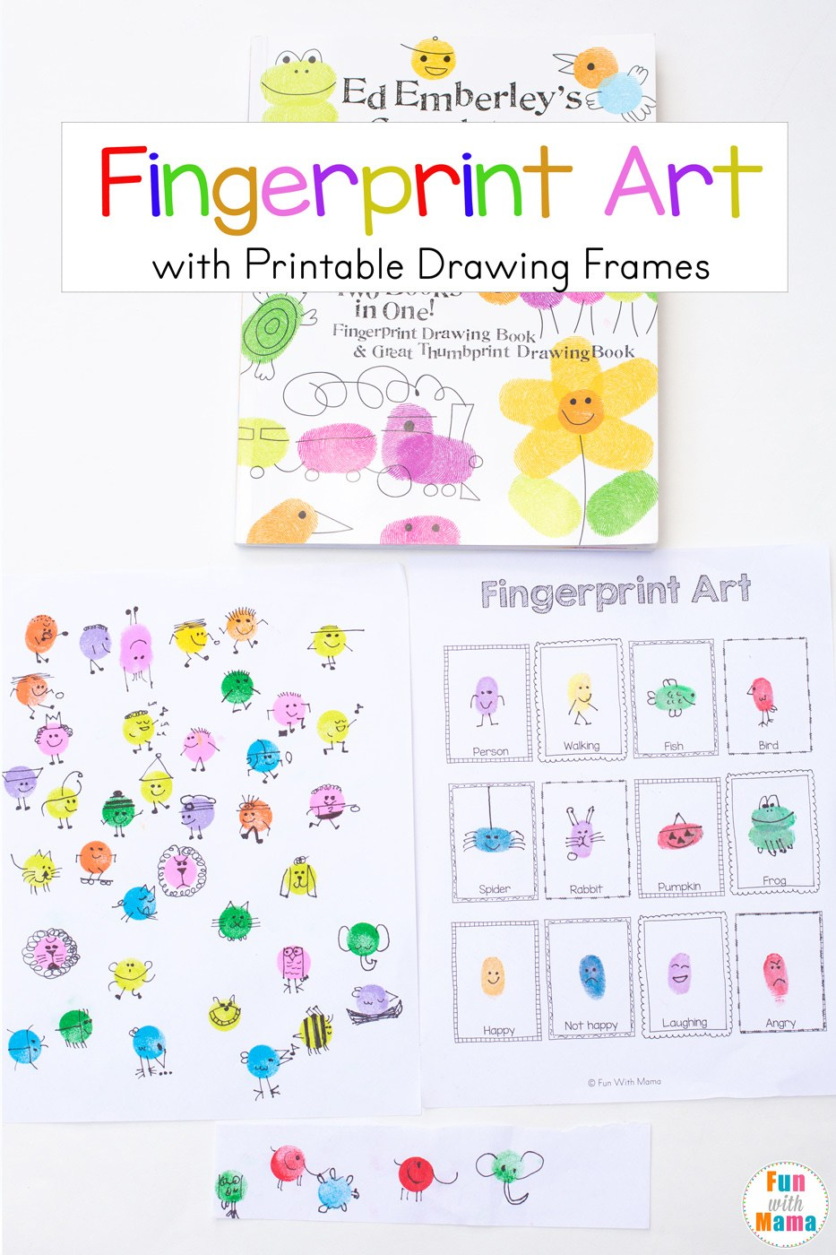 933x1400 Fingerprint Art Drawing Ideas With Printable Drawing Frames